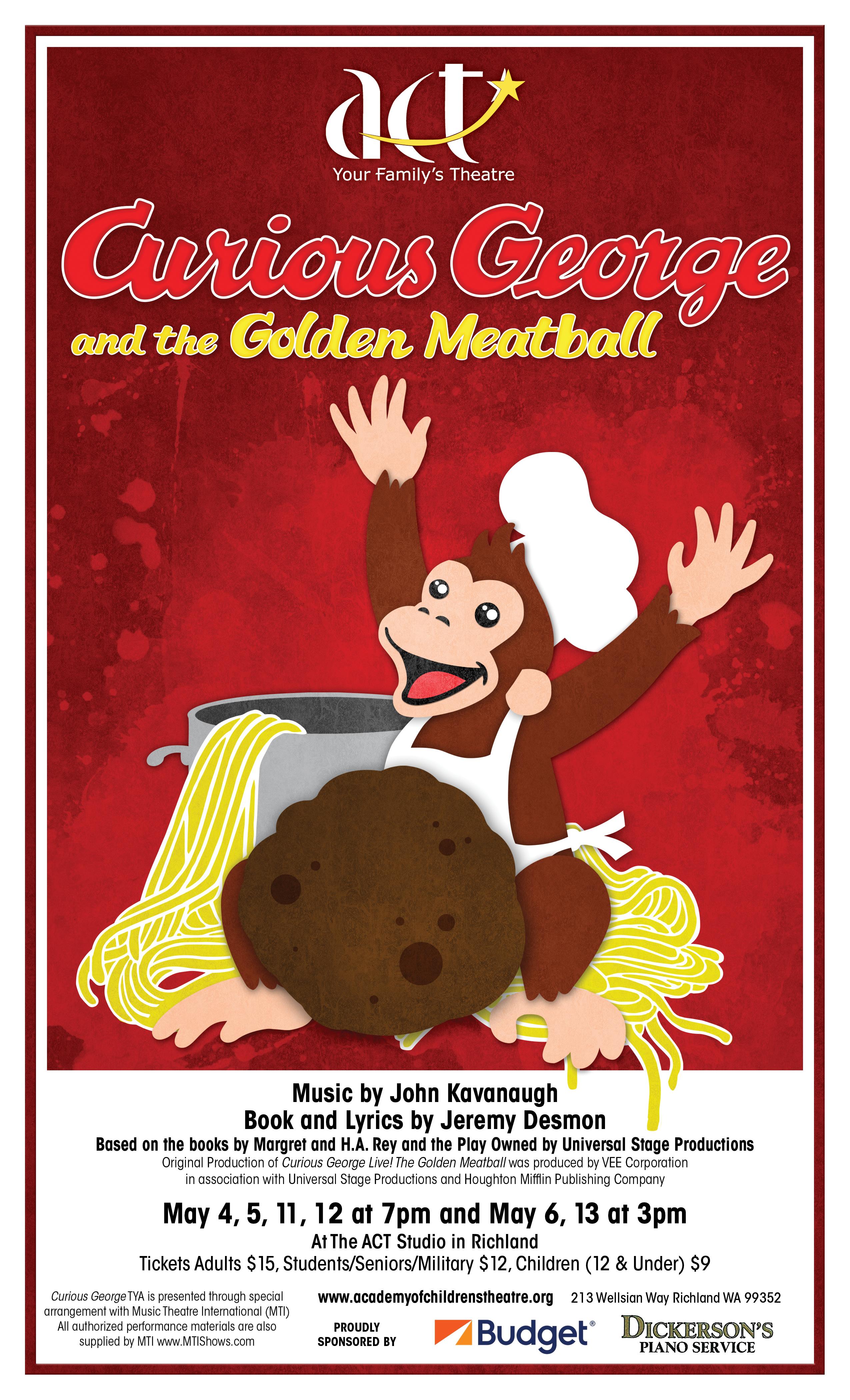 curious george and the golden meatball cast list - A Golden Christmas Cast